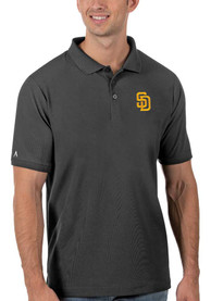 San Diego Padres Antigua Legacy Pique Polo Shirt - Grey