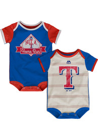 Texas Rangers Baby Blue Good Ol Baseball One Piece