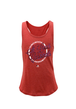 St Louis Cardinals Girls Red Shine Bright Tank Top