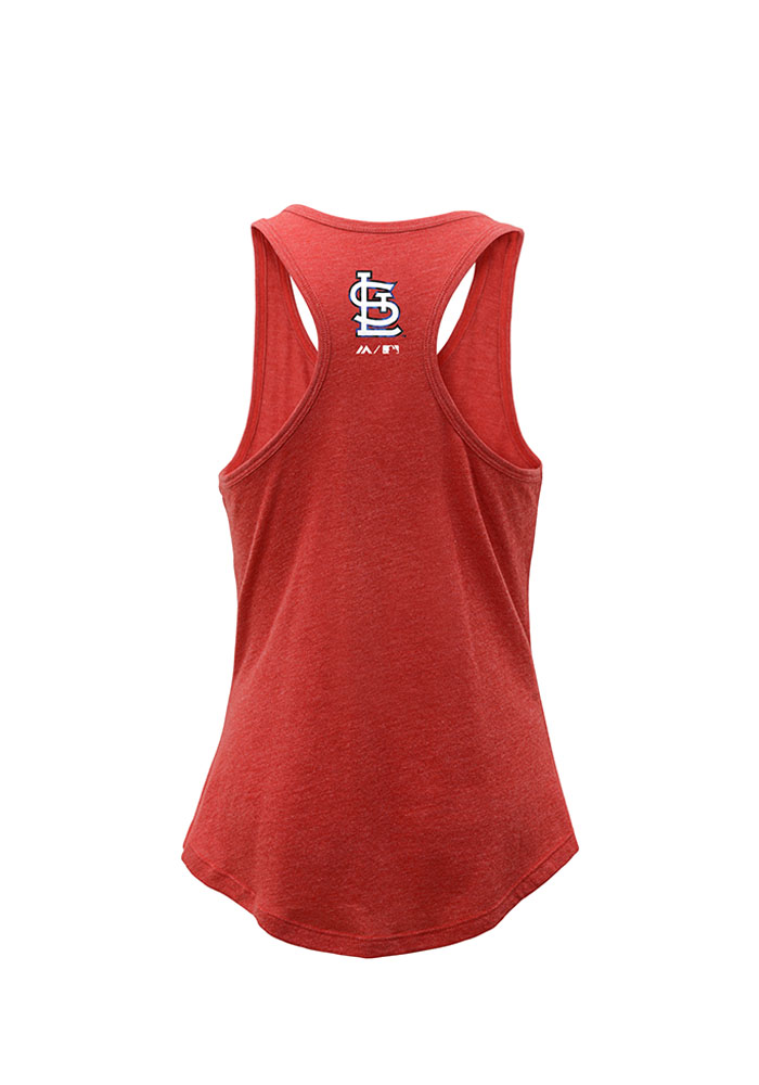 St Louis Cardinals Girls Red Shine Bright Short Sleeve Tank Top - Image 2