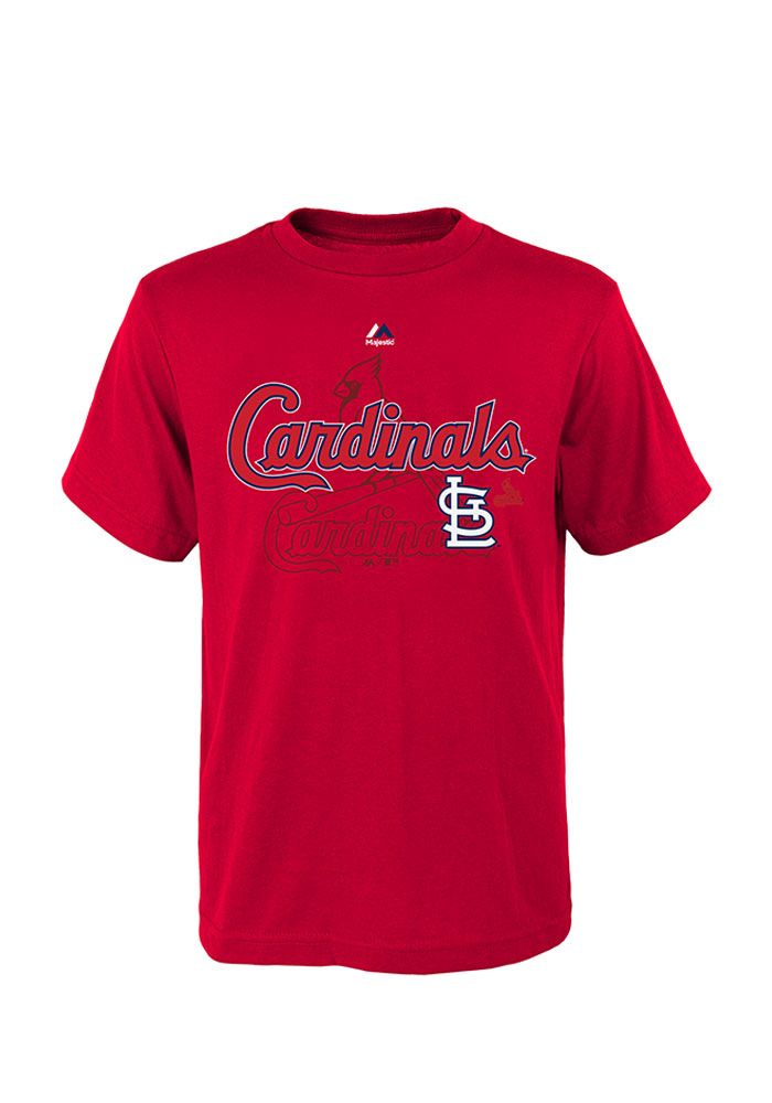 St Louis Cardinals Youth Red Real Gem Short Sleeve T-Shirt - Image 1