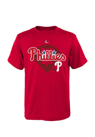 Philadelphia Phillies Youth Red Real Gem T-Shirt