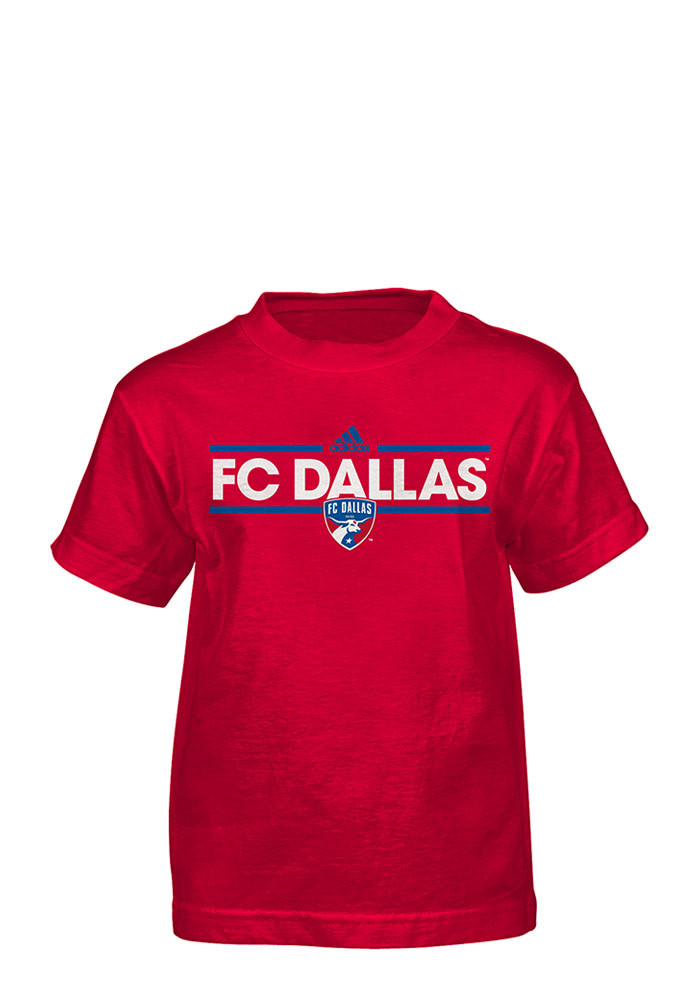 FC Dallas Boys Red Dassler Short Sleeve T-Shirt - Image 1