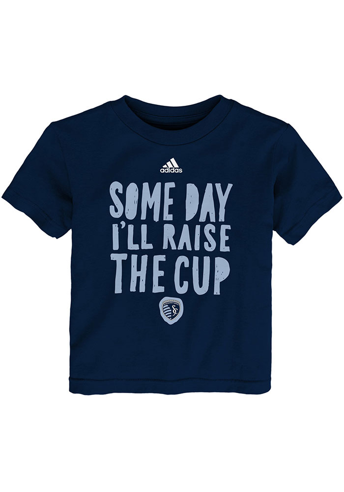 Sporting Kansas City Toddler Navy Blue Blue the Cup Short Sleeve T-Shirt - Image 1