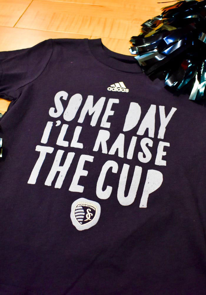 Sporting Kansas City Toddler Navy Blue Blue the Cup Short Sleeve T-Shirt - Image 2