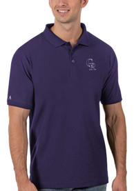Colorado Rockies Antigua Legacy Pique Polo Shirt - Purple