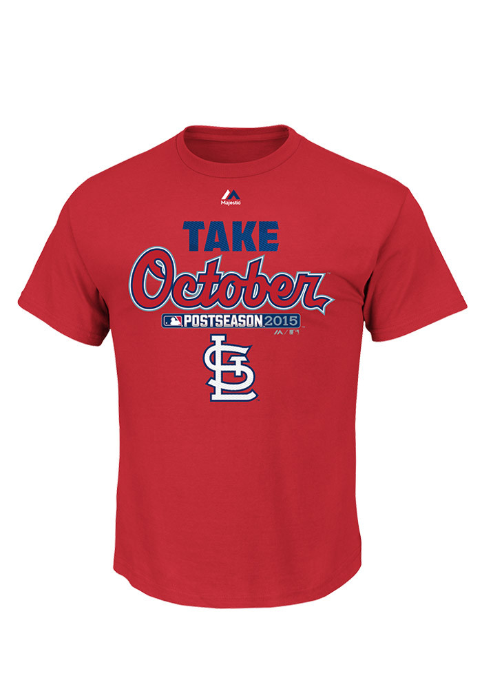 St Louis Cardinals Youth Red Locker Room Short Sleeve T-Shirt - Image 1