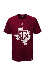 Texas A&M Youth Maroon Training Performance T-Shirt