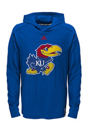 KU Jayhawks Kids Blue Training Hooded Sweatshirt
