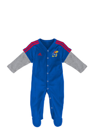 Kansas Jayhawks Baby Player Blue Player Creeper Pajamas