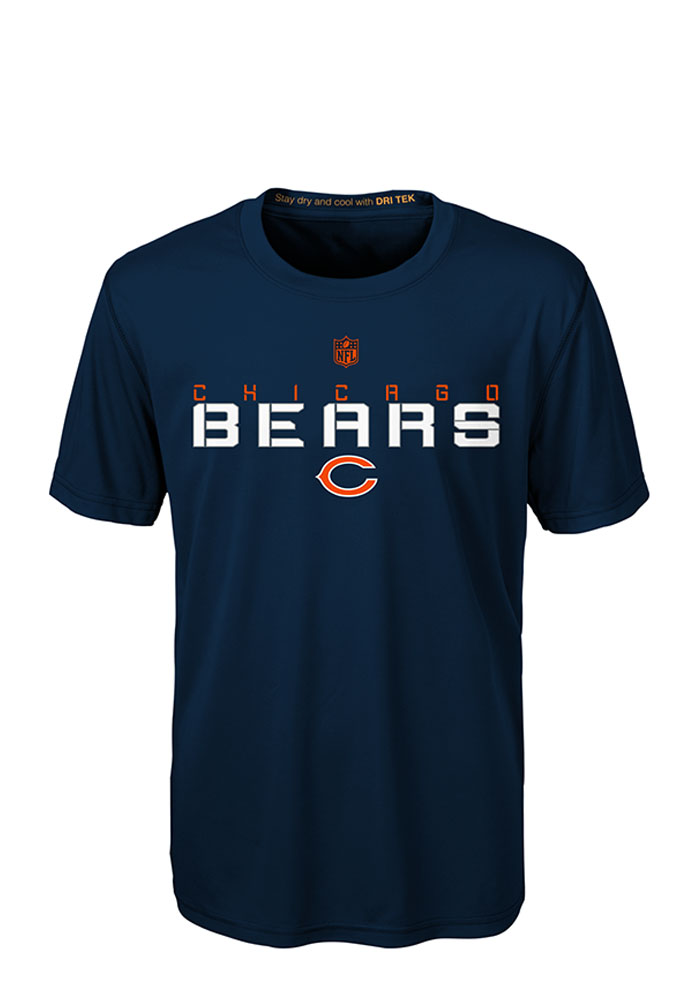 Chicago Bears Youth Navy Blue Maximal T-Shirt