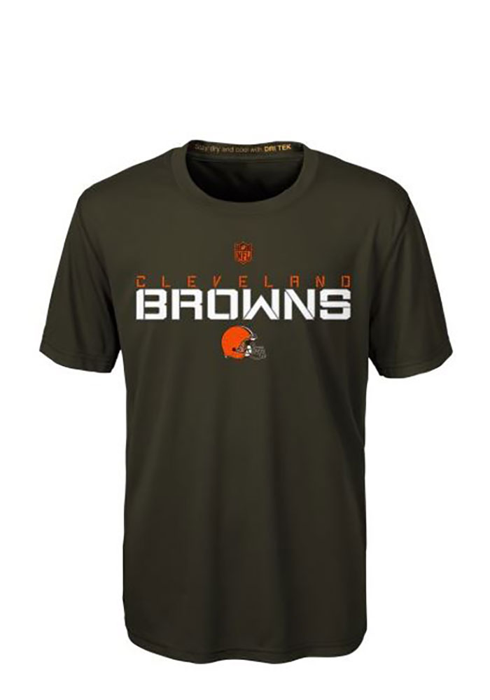 Cleveland Browns Youth Brown Maximal Short Sleeve T-Shirt - Image 1