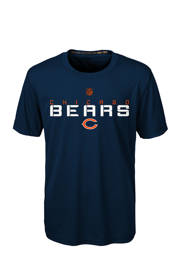 Chicago Bears Boys Navy Blue Maximal Short Sleeve T-Shirt - Image 1