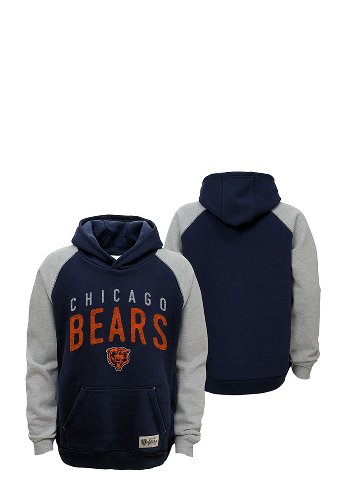 328f4bb2 Chicago Bears Kids Navy Blue Foundation Long Sleeve Hoodie