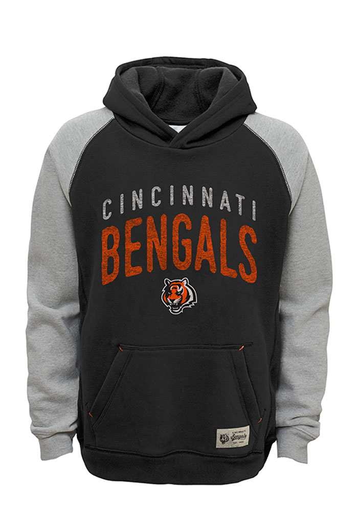 823354d38d6 Cincinnati Bengals Kids Black Foundation Hooded Sweatshirt
