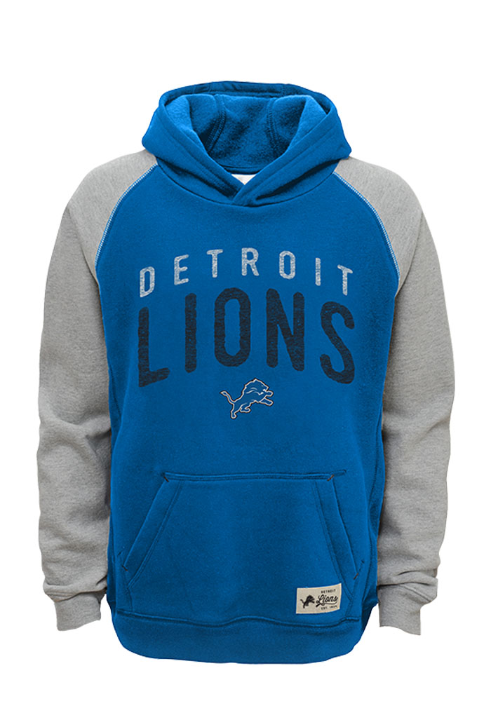 Detroit Lions Kids Blue Foundation Long Sleeve Hoodie - Image 1