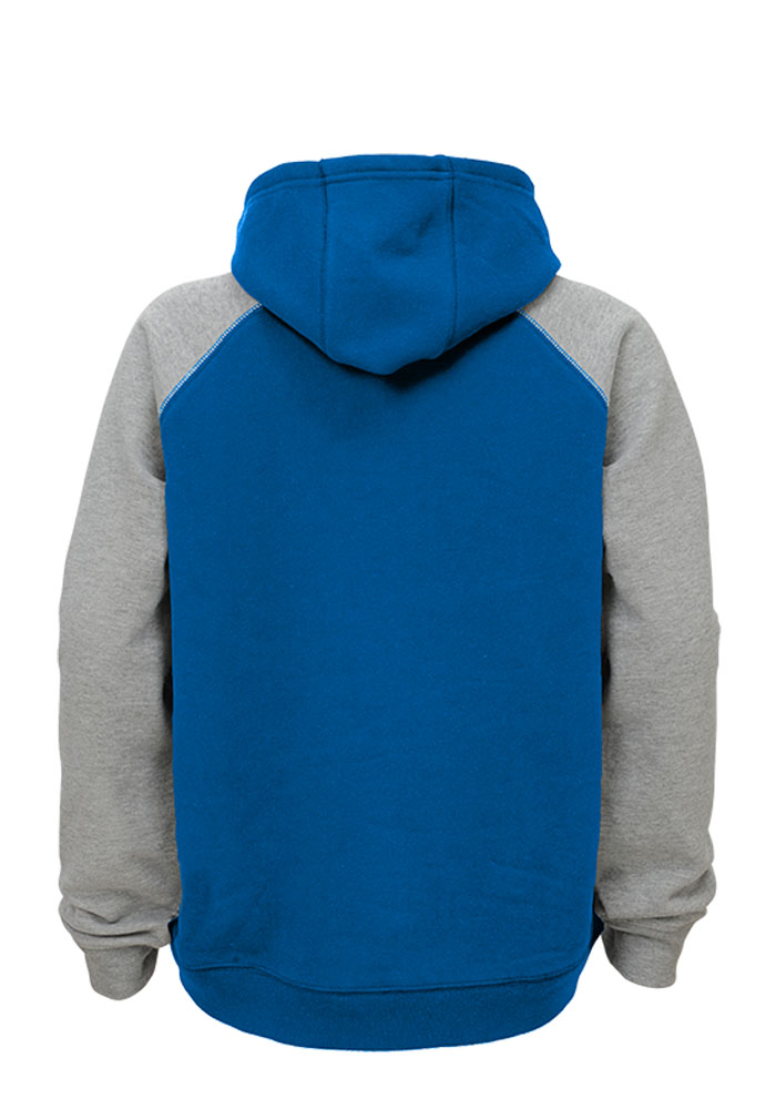 Detroit Lions Kids Blue Foundation Long Sleeve Hoodie - Image 2