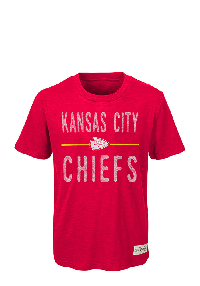 Kansas City Chiefs Youth Red Descendant Short Sleeve Fashion T-Shirt - Image 1