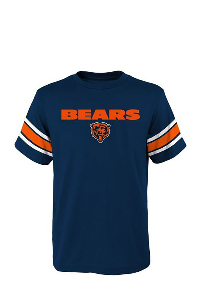 Chicago Bears Toddler Navy Blue Loyal Fan Short Sleeve T-Shirt - Image 1