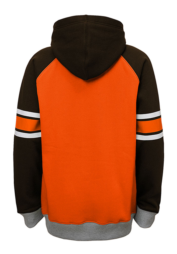 Cleveland Browns Boys Orange Robust Long Sleeve Hooded Sweatshirt - Image 2