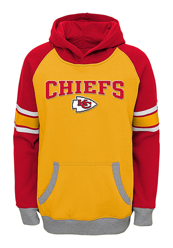 sports shoes de292 5090a Kansas City Chiefs Boys Gold Robust Long Sleeve Hooded Sweatshirt