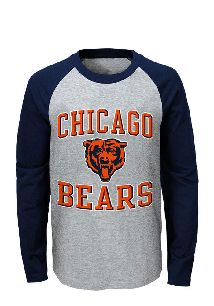 Chicago Bears Youth Navy Blue Constant Long Sleeve Fashion T-Shirt - Image 1