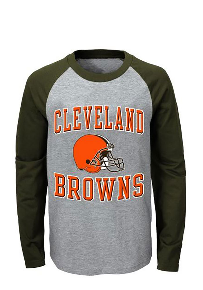 Cleveland Browns Kids Brown Constant Long Sleeve Hoodie - Image 1