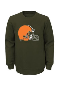 Cleveland Browns Boys Brown Prime Sweatshirt