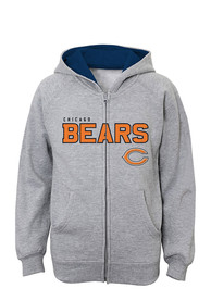 Chicago Bears Youth Grey Stated Full Zip Jacket