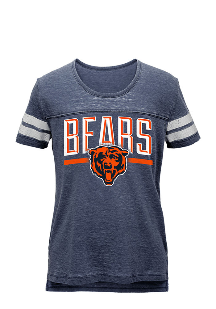 Chicago Bears Girls Navy Blue Stated Short Sleeve Tee - Image 1