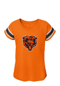 Chicago Bears Girls Orange Dolman T-Shirt
