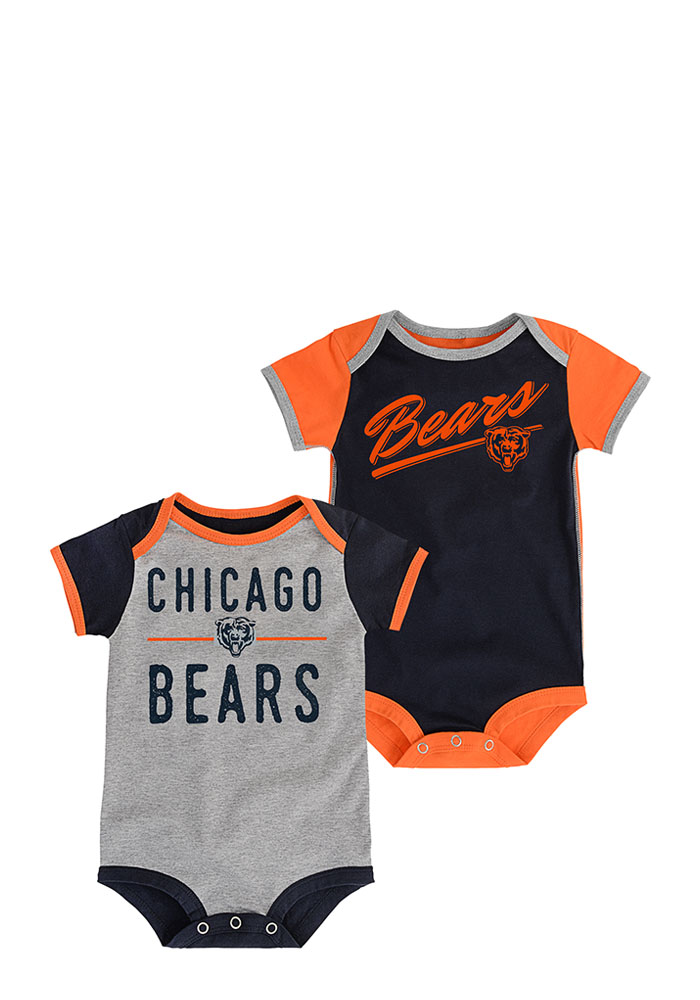 Chicago Bears Baby Navy Blue Descendant Creeper - Image 1