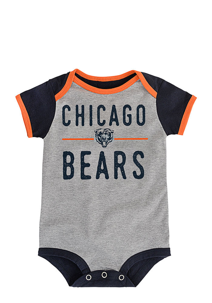 Chicago Bears Baby Navy Blue Descendant Creeper - Image 2