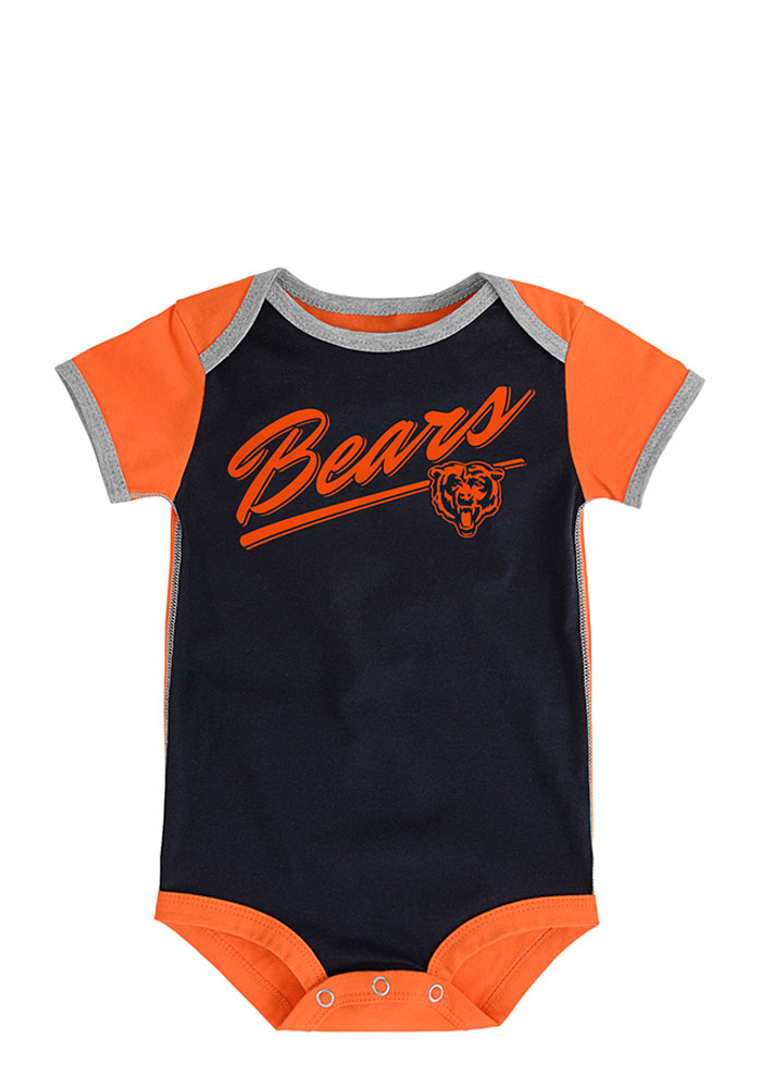 Chicago Bears Baby Navy Blue Descendant Creeper - Image 3