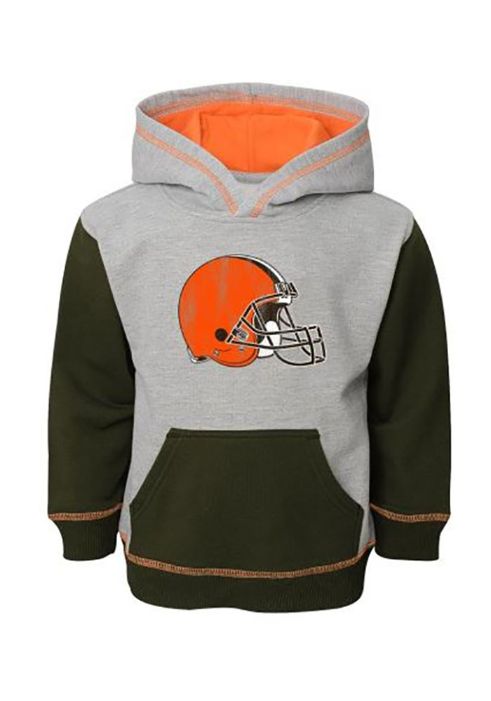 Cleveland Browns Toddler Grey Standard Long Sleeve Hooded Sweatshirt - Image 1