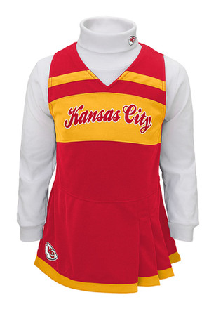 kansas city chiefs girls red jumper cheer set