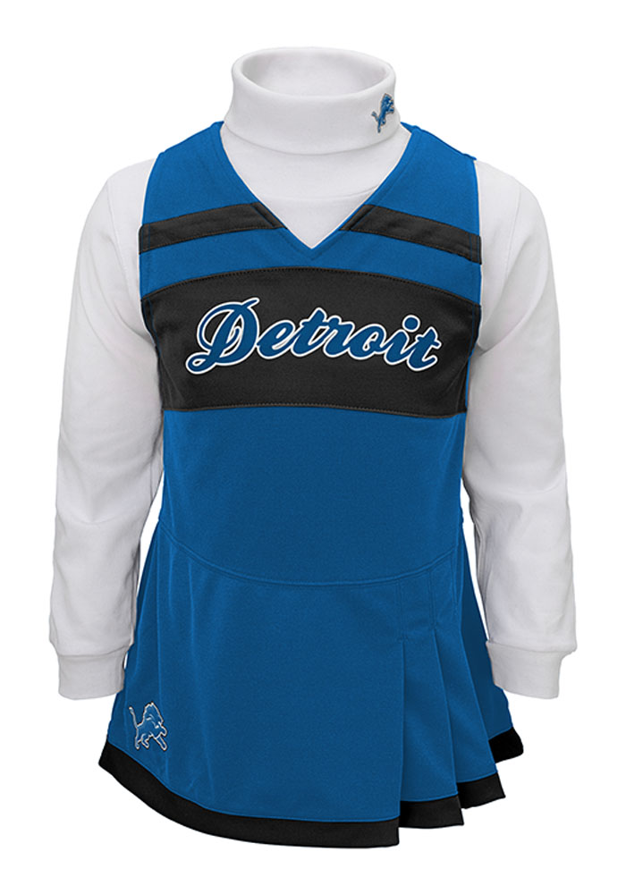 Detroit Lions Toddler Girls Blue Jumper Sets Cheer - Image 1