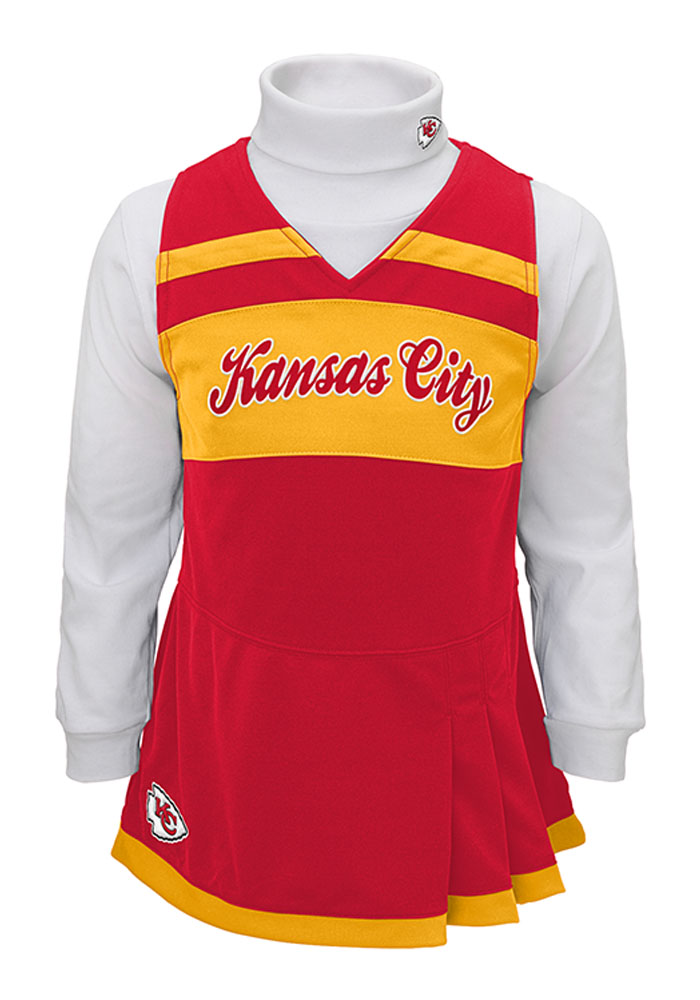 Kansas City Chiefs Toddler Girls Red Jumper Sets Cheer - Image 1