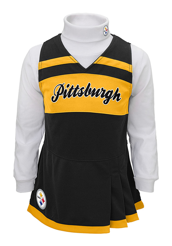 Pittsburgh Steelers Toddler Girls Black Jumper Sets Cheer - Image 1