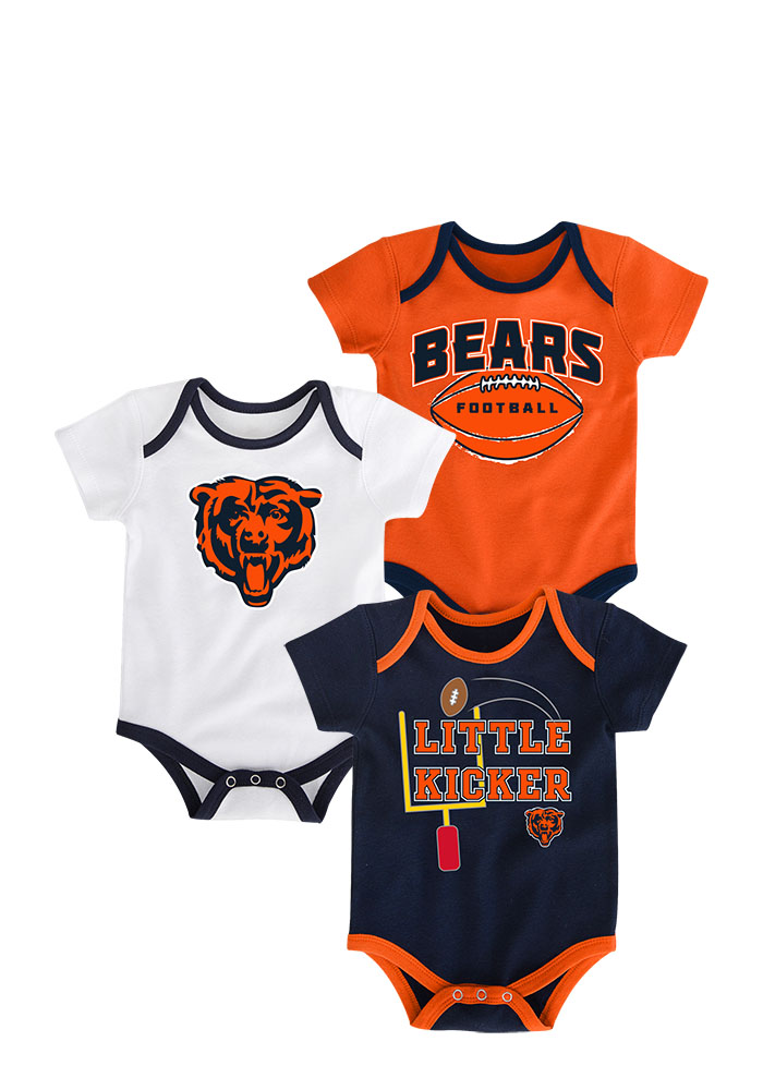 Chicago Bears Baby Navy Blue 3 Points One Piece - Image 1