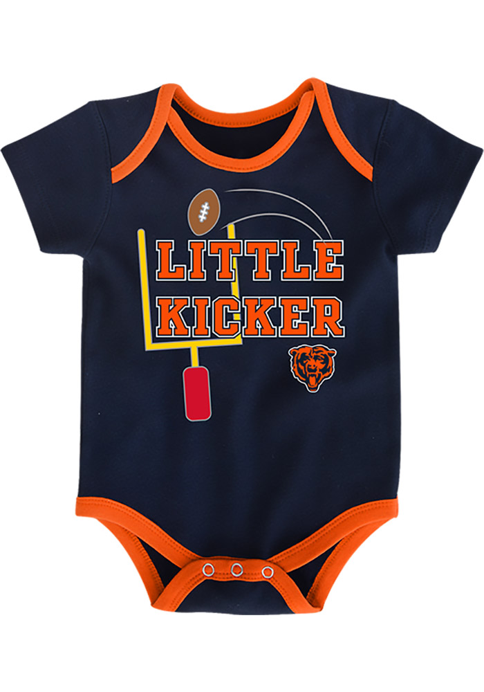 Chicago Bears Baby Navy Blue 3 Points One Piece - Image 2