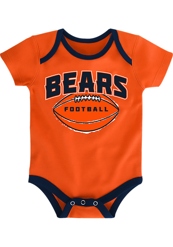 Chicago Bears Baby Navy Blue 3 Points One Piece - Image 3