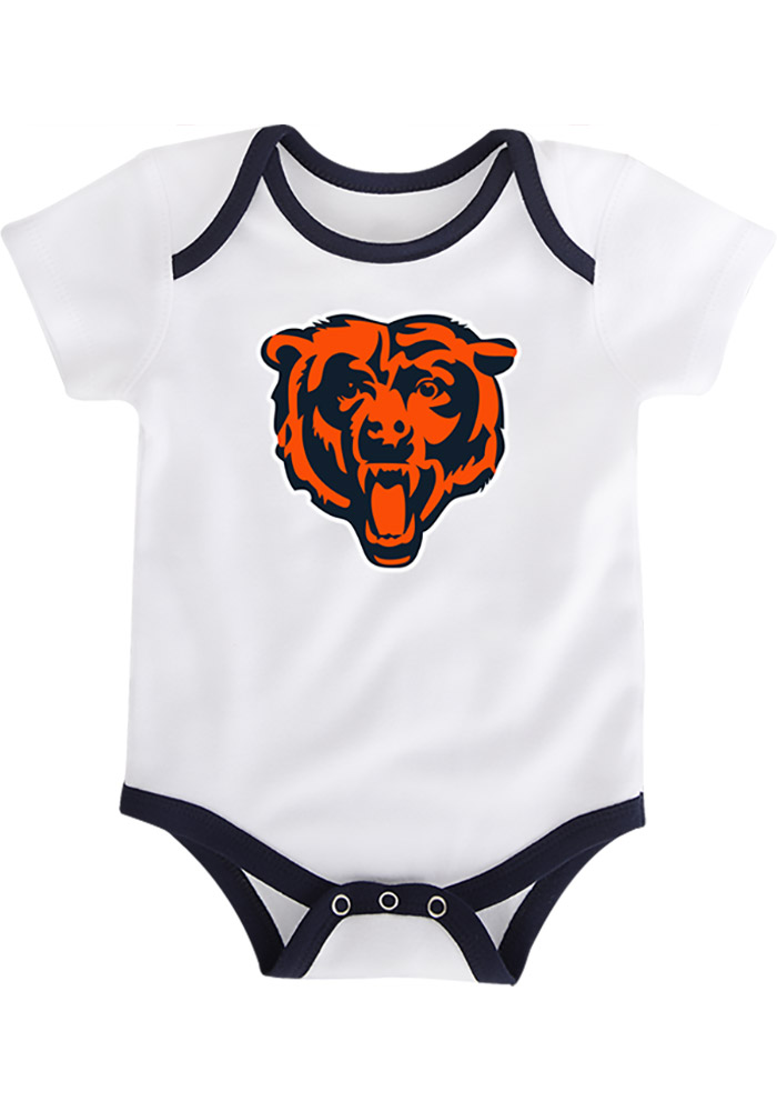 Chicago Bears Baby Navy Blue 3 Points One Piece - Image 4