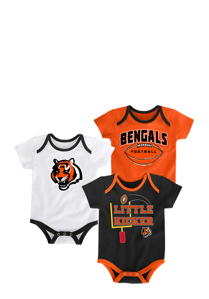 Cincinnati Bengals Baby Black 3 Points One Piece - Image 1