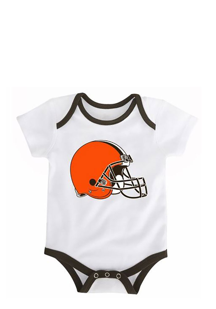 Cleveland Browns Baby Brown 3 Points Creeper - Image 1