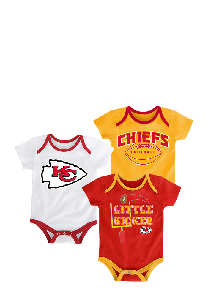 Kansas City Chiefs Baby Red 3 Points Creeper - Image 1