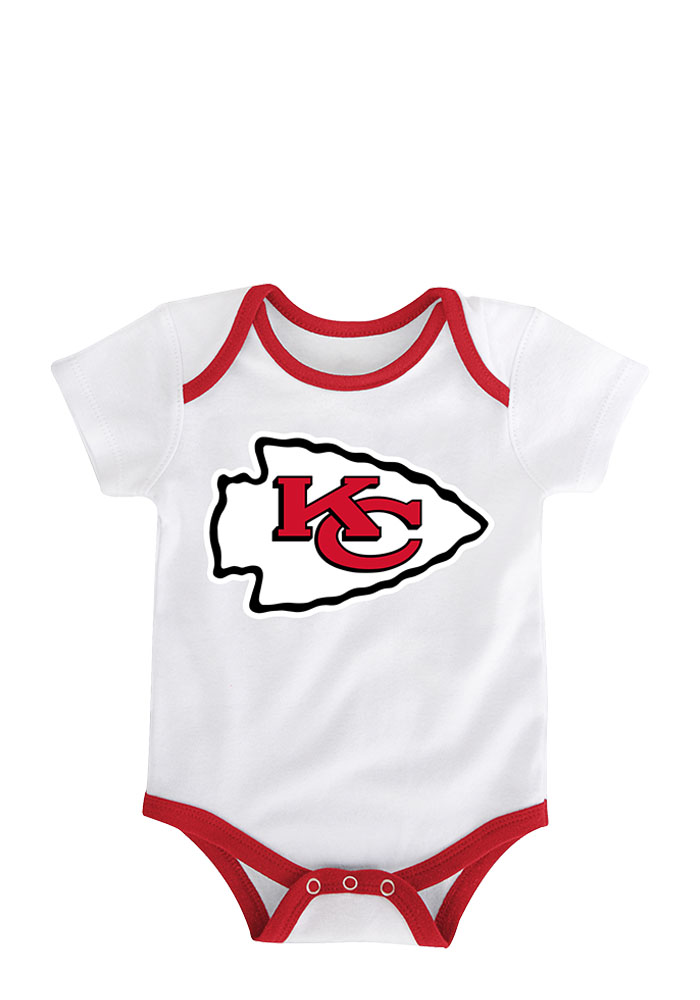 Kansas City Chiefs Baby Red 3 Points Creeper - Image 2