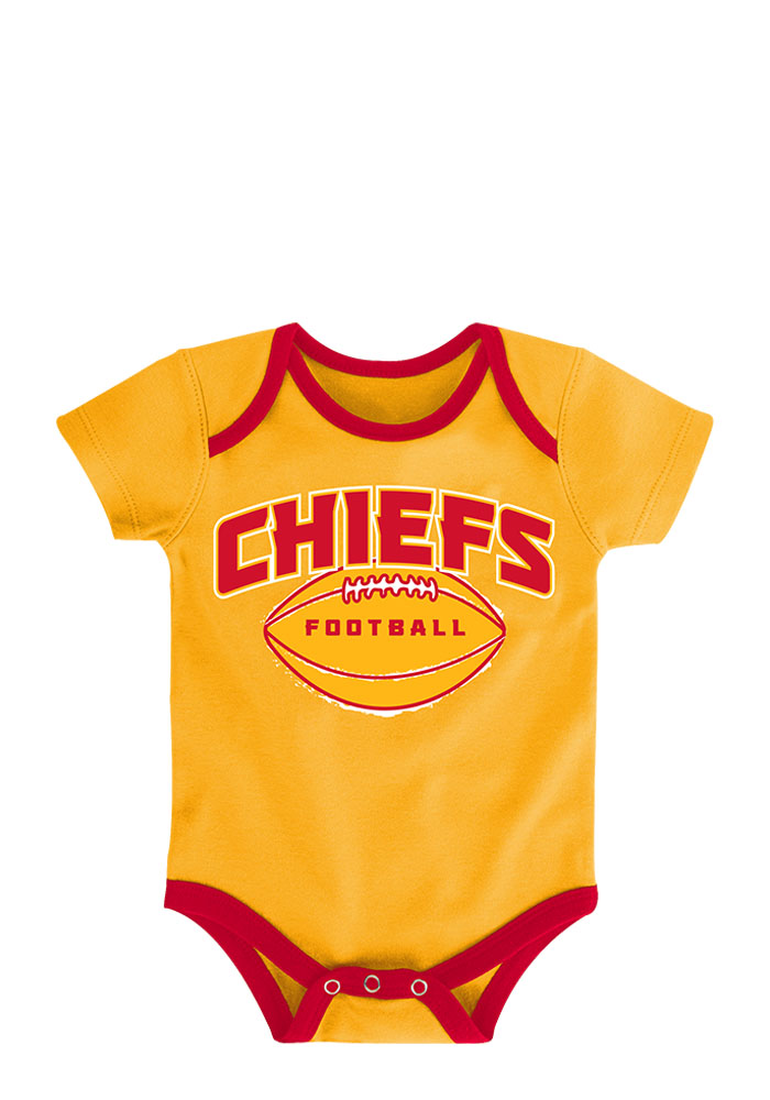Kansas City Chiefs Baby Red 3 Points Creeper - Image 3