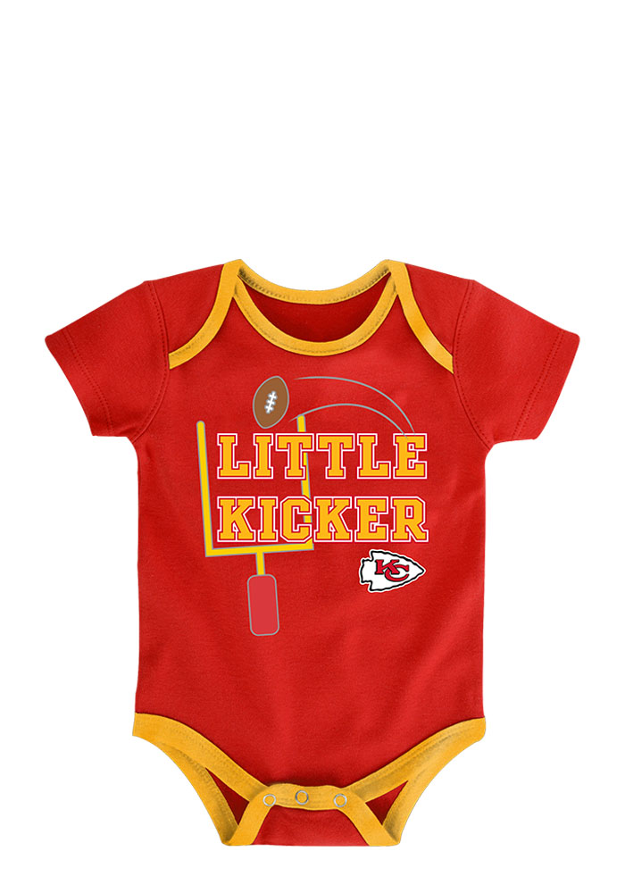 Kansas City Chiefs Baby Red 3 Points Creeper - Image 4