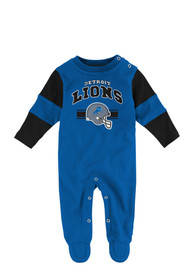 Detroit Lions Baby Jumper Blue Jumper One Piece Pajamas